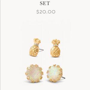 Spartina 449 pineapple stud earrings set
